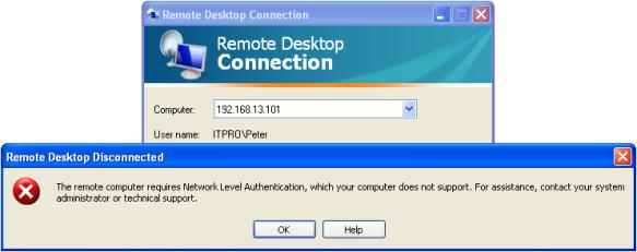 Разбор ситуации: не работает Remote Desktop с Windows XP на Windows